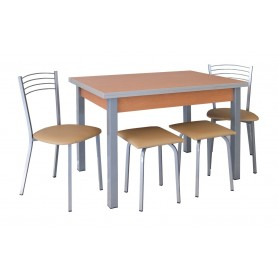 Conjunto Mesa 100*60 2 Bancos + 2 Cadeiras