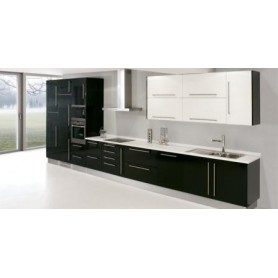 Cozinha Laminado lacado preto