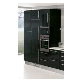 Cozinha Laminado pormenor lacado preto
