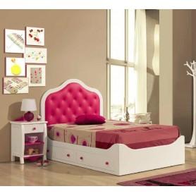 Quarto JOANA Juvenil cama e mesa cabeceira