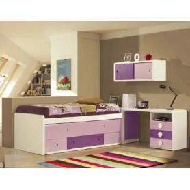Composição ALVIN cama compacta