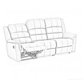 Limpeza + Impermeabil. Sofá de 3 Lugares