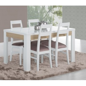 Mesa Sala Chiado branco carvalho