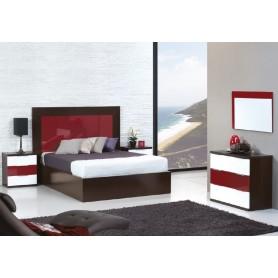 Quarto de Casal 2011 Wenguê + Branco/Vermelho Brilhante