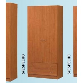 Roupeiro 2 portas + 2 gavetas 485/01 Laminado