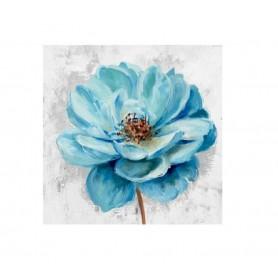 TELA PINTADA Á MÃO 80x80CM R. 3564 Flor Azul
