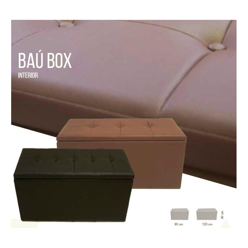 Puff Baú Box 2016  Médio com tampa  80cm