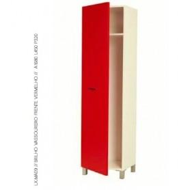 Móvel WC Despenseiro Ref.LUX.MA08.11 1P Brilho Branco