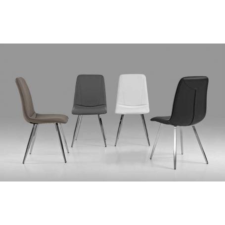 Cadeira Sala PU Cromado Ref. 763X-1148