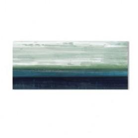 TELA PINTADA 80x80 Ref 5124 flores azul e bege