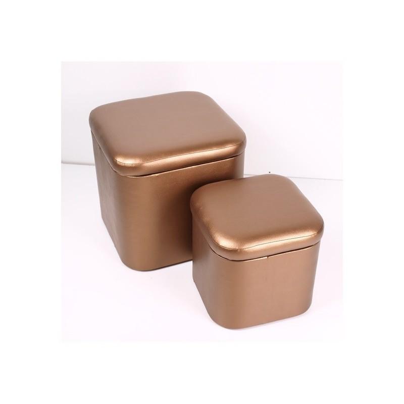 POUF/BAU Bronze conj 2  grande e peq  REF.1330 stock off