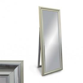 Espelho de Pé Moldura Prata e Branco Ref. 5156 60*165cm