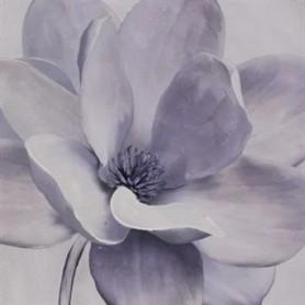 TELA PINTADA 80*80cm DOPE7593 Ref. 5984 Flor cinza