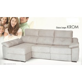 Sofá Krom 2 lugares + chaise