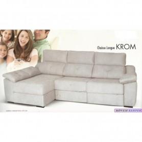 Sofá Krom 2 lugares + chaise s/arrumação