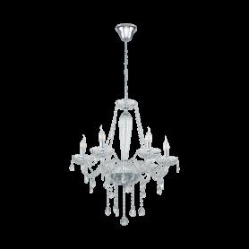 Candeeiro Teto suspensão BASILANO 1 ref 39099 cristal