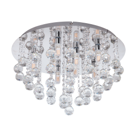 Plafon WC ALMONTE Ref 97699 LED cristal IP44