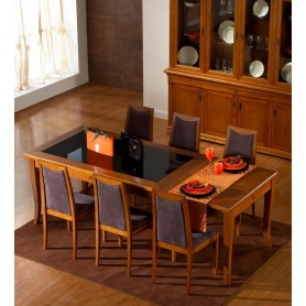 Mesa sala Impact 346 Cerejeira extensivel