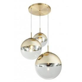 Candeeiro Plafon Suspensão VARUS ref 15855-3 oxidado e dourado