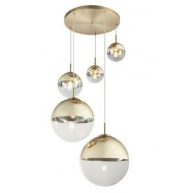 Candeeiro Plafon Suspensão VARUS ref 15855-5 oxidado e dourado