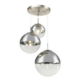Candeeiro Plafon Suspensão VARUS ref 15851-3  nickel matt e prata