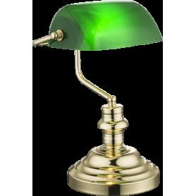 Candeeiro de mesa ANTIQUE Ref.: 2491K Dourado e verde