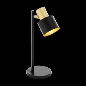Candeeiro Mesa Cabeceira FIUMARA Ref 39387 preto e dourado