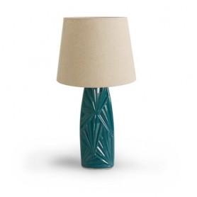 candeeiro Base Ceramica Azul D8777 34x34x67 R. 5237