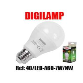Lâmpada A60 LED E27 7W 480LM