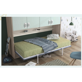 Cama horizontal rebativel