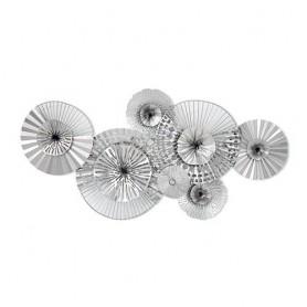 Decoração Metal de Parede 47x90x7cm ref7507 cor prata