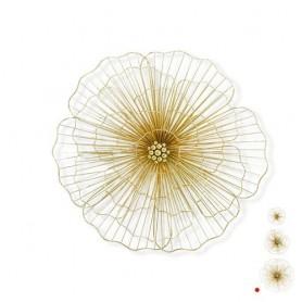 Decoração Metal de Parede 42x44x6cm ref 7499 flor ouro Grand