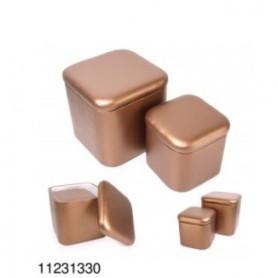 PUFF/BAÚ Bronze conj 2  grande e peq  REF.1330 stock off