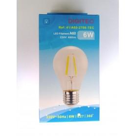 Lâmpada LED Filamento 41/A60-2706-TEC 6W 2700K 600lumens
