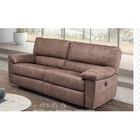 Sofá Ref 5203 3 lugares com relax Electrico Nubuck 347/5008b
