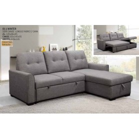 Sofá 811 Winter com chaise-longue e cama