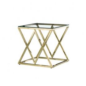 Mesa de Apoio Dourada metal 55x55x55CM CS-06G-1 Ref 7300