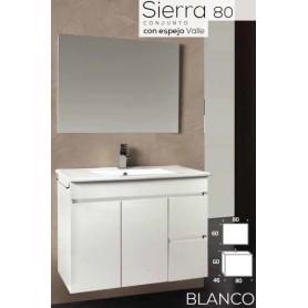Conjunto WC Sierra 80 com lavatório cerâmico embutido
