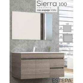 Conjunto WC Sierra 100 com lavatório cerâmico embutido