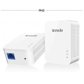Adaptador Net por tomadas 1 par tenda PH3 gigabit 1000 mbps powerline av1000 ethernet