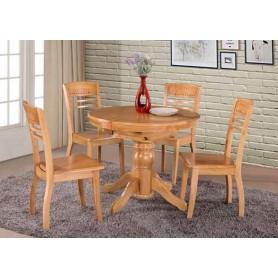Mesa Cozinha Redonda Extensível 684WT15 90x80x75