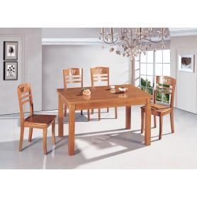 Mesa Cozinha 684A07 130x80x75 Reta Fixa Cerejeira