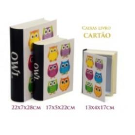 Conjunto 3 Caixas Livro Decorativas Ref. 20617 Mochos