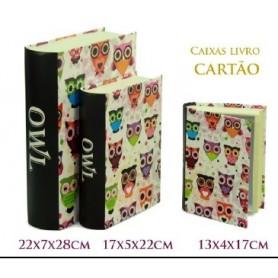 Conjunto 3 Caixas Livro Decorativas Ref. 20618 Mochos Color