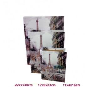 Conjunto 3 caixas Livro de madeira Ref 19472 PARIS
