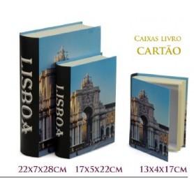 Conjunto 3 Caixas Livro Decorativas Ref. 20615 Lisboa