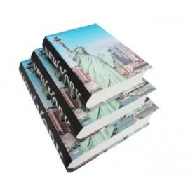copy of Conjunto 3 Caixas Livro Decorativas Ref.20631 Costura Retalhos