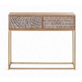 Consola Wood 87590072 90x35x75cm