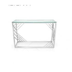 Credencia prateada com vidro 120*40*78CM BS-1530 ref 7990