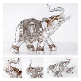 Elefante Dec Prateado 43.5x19.3x41cm Ref 2130